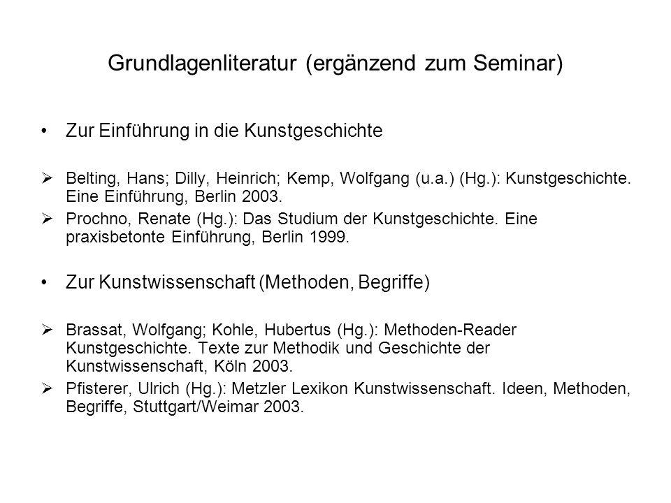 Grundlagenliteratur (ergänzend zum Seminar)