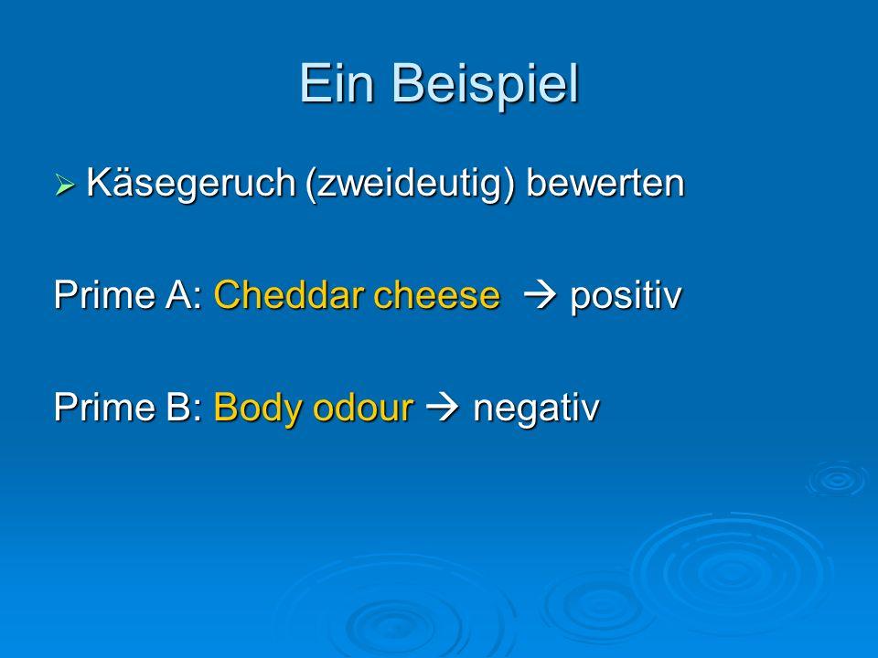 Ein Beispiel Käsegeruch (zweideutig) bewerten