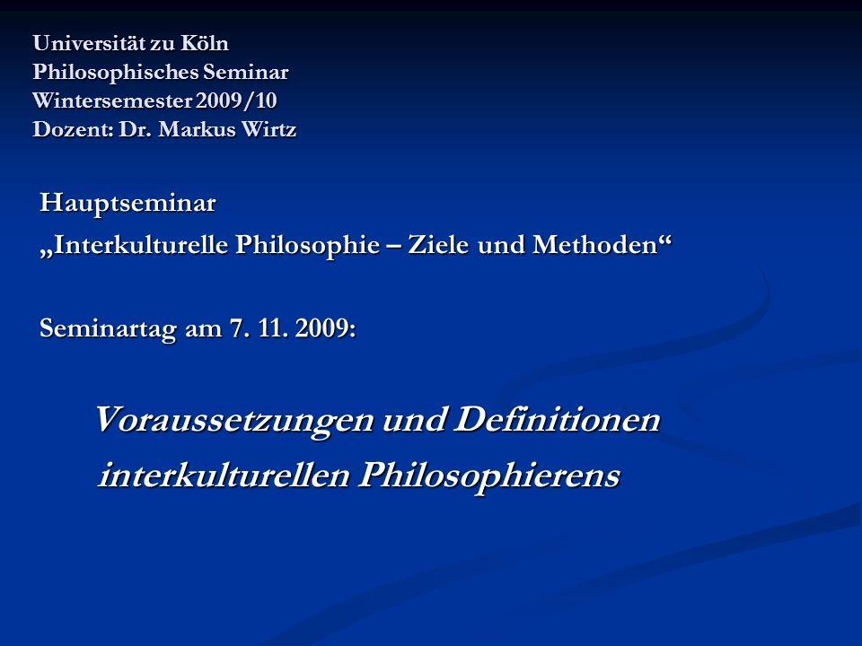 interkulturellen Philosophierens