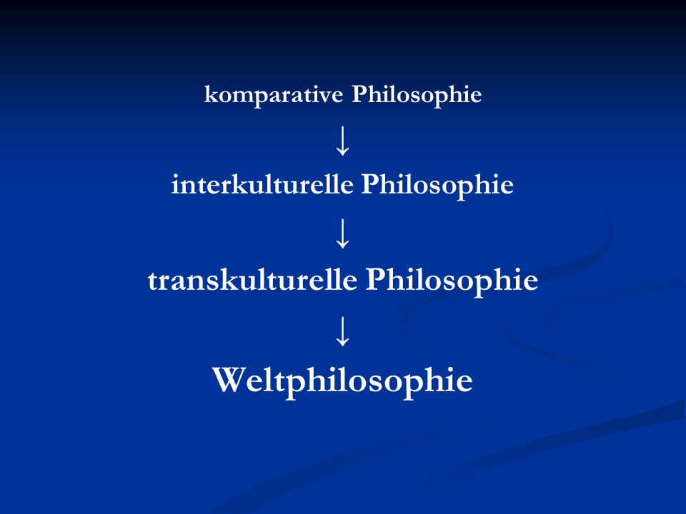 Weltphilosophie ↓ transkulturelle Philosophie