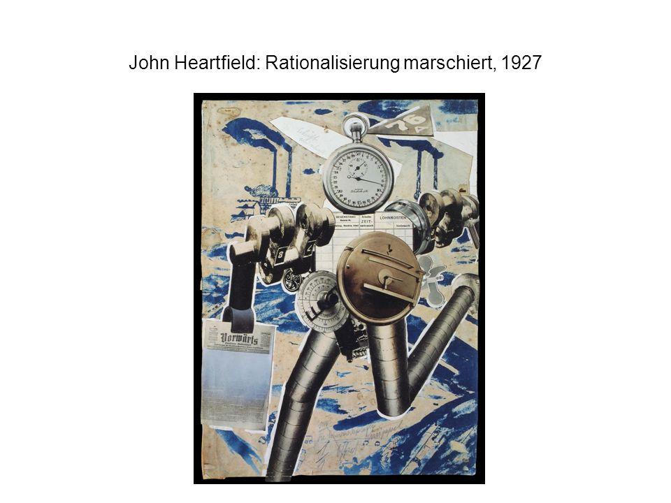 John Heartfield: Rationalisierung marschiert, 1927