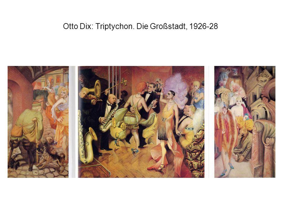 Otto Dix: Triptychon. Die Großstadt, 1926-28