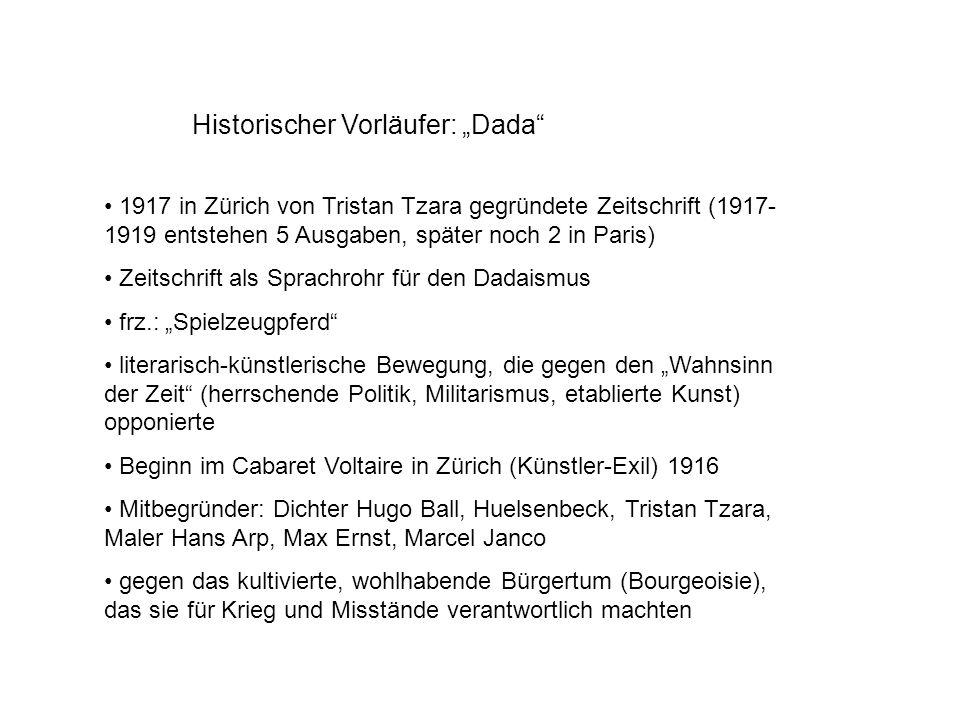 """Historischer Vorläufer: """"Dada"""