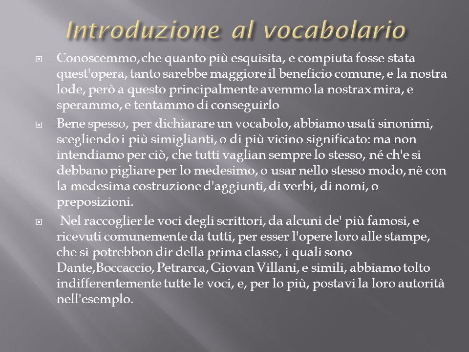 Introduzione al vocabolario