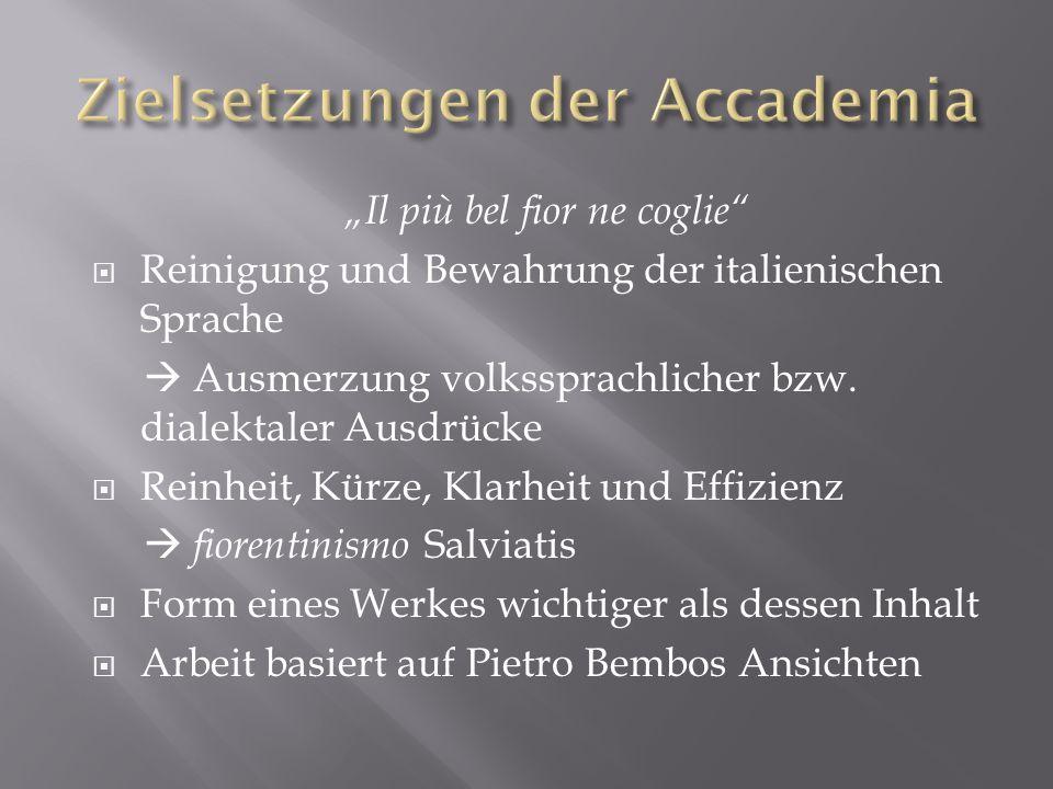 Zielsetzungen der Accademia