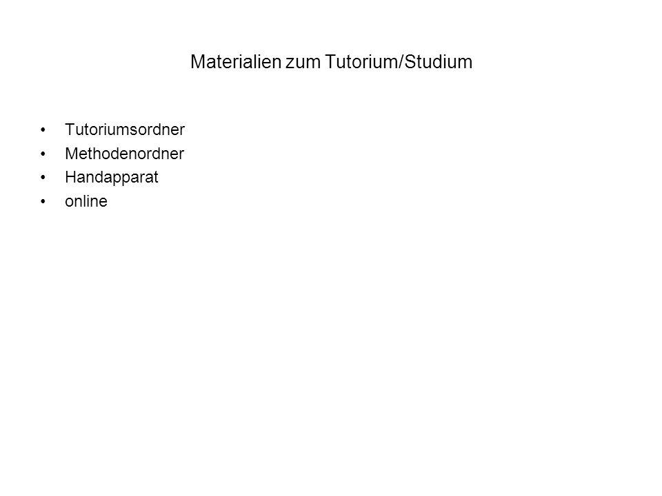 Materialien zum Tutorium/Studium