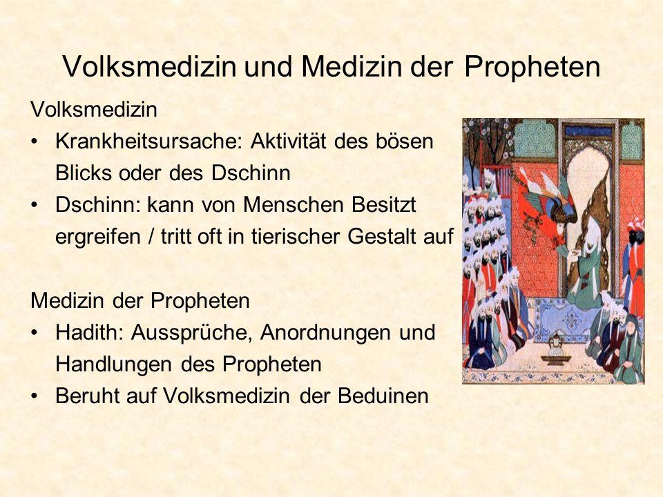 Volksmedizin und Medizin der Propheten