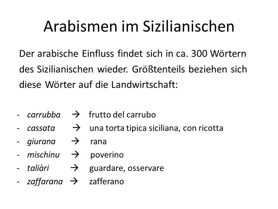 Arabismen im Sizilianischen