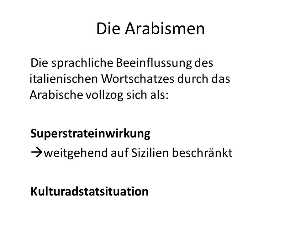 Die Arabismen