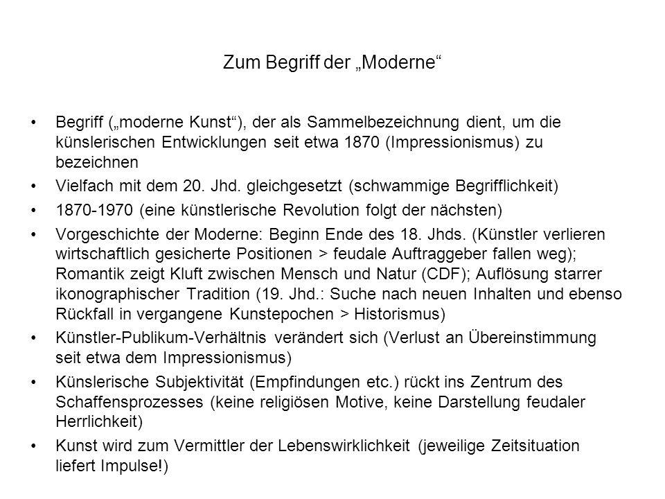 """Zum Begriff der """"Moderne"""