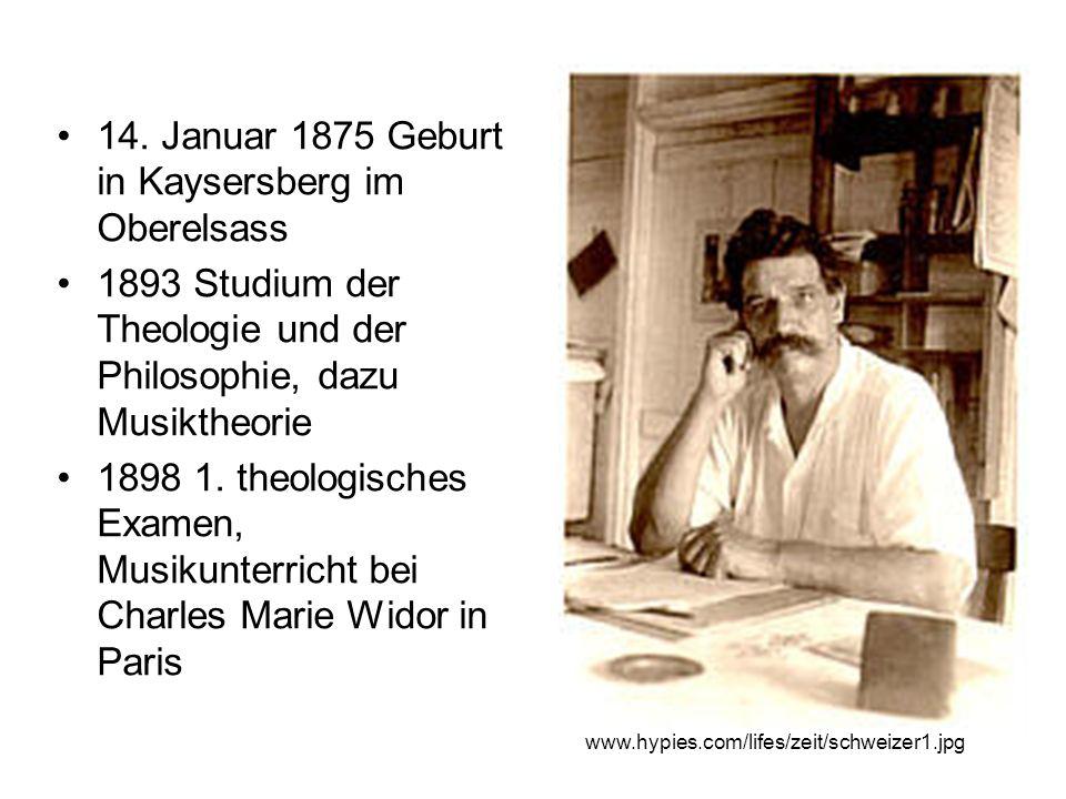 14. Januar 1875 Geburt in Kaysersberg im Oberelsass