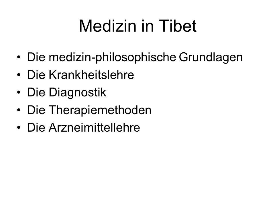 Medizin in Tibet Die medizin-philosophische Grundlagen