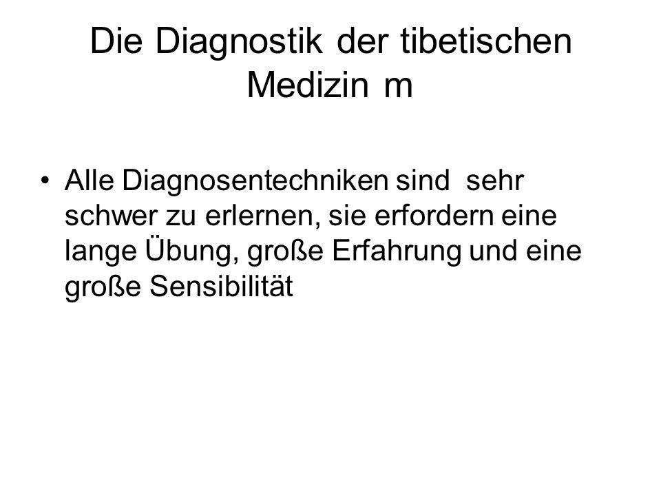 Die Diagnostik der tibetischen Medizin m