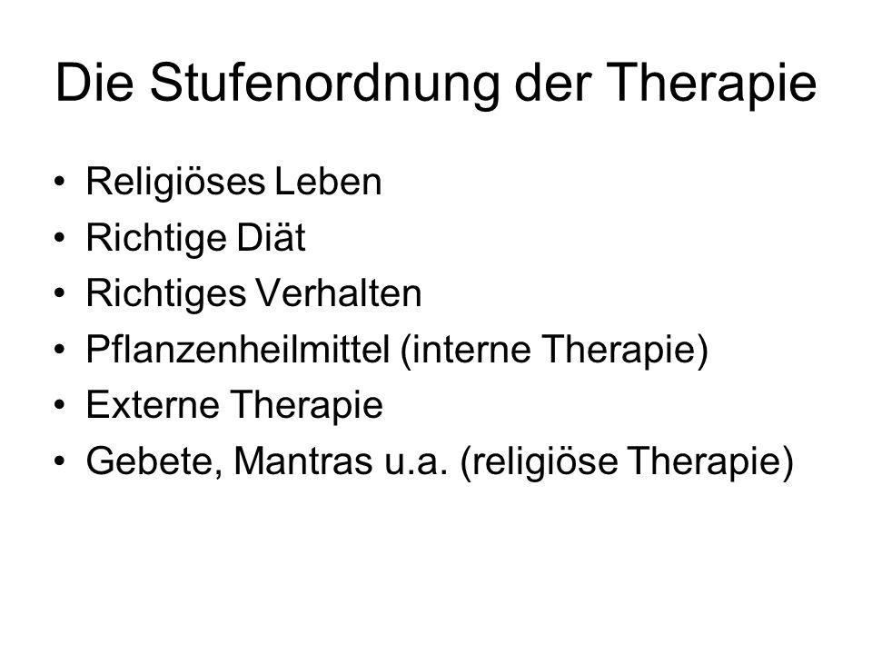 Die Stufenordnung der Therapie