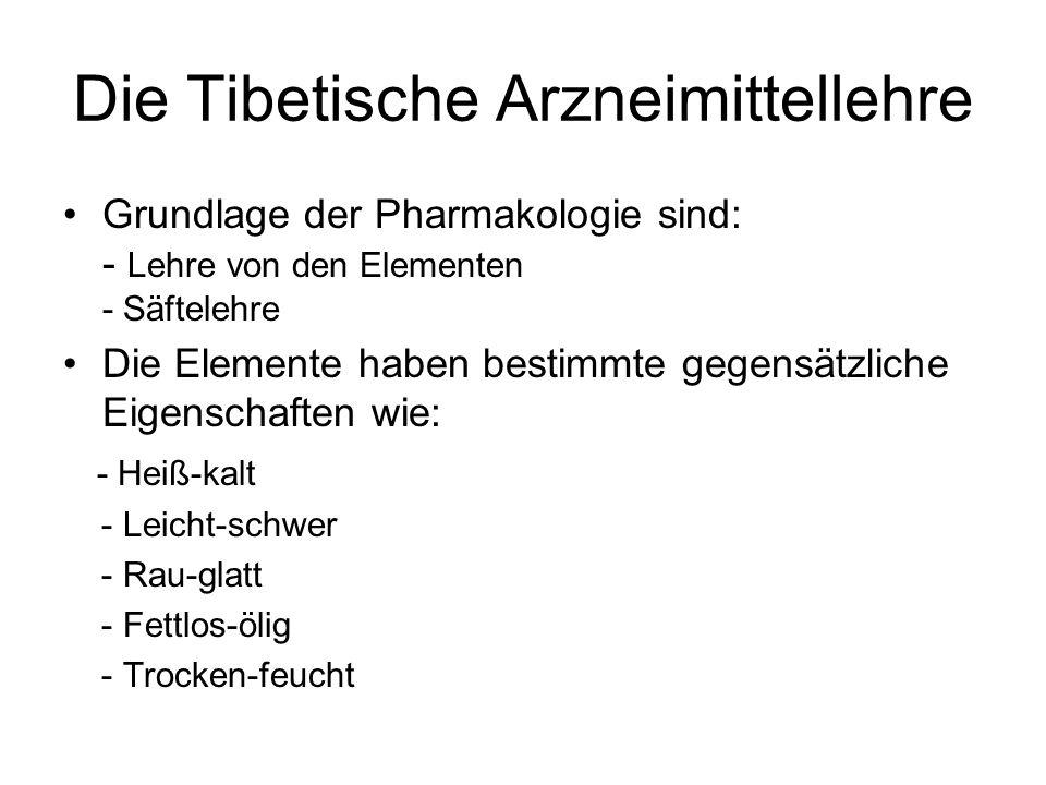 Die Tibetische Arzneimittellehre