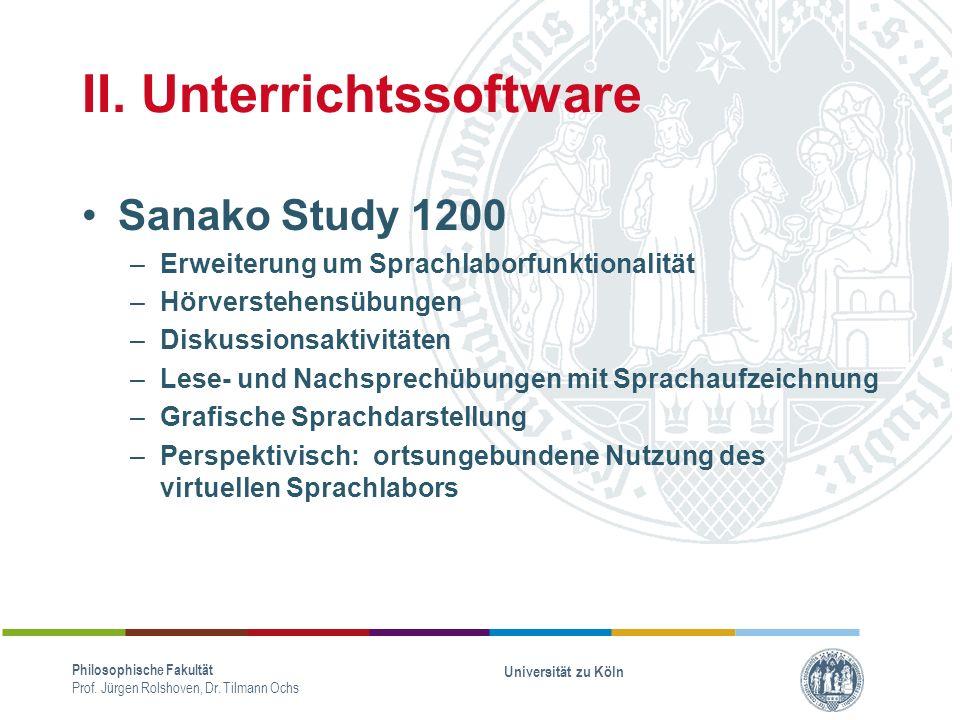II. Unterrichtssoftware