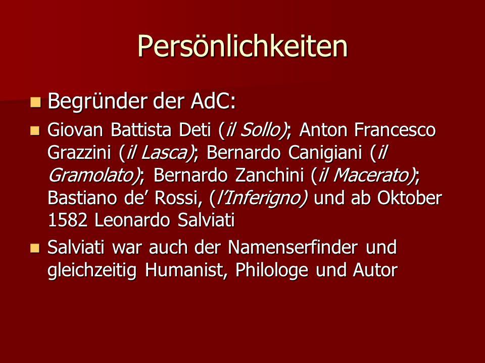 Persönlichkeiten Begründer der AdC: