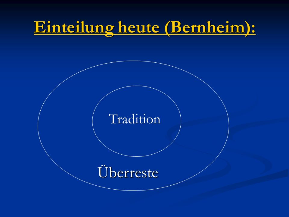 Einteilung heute (Bernheim):