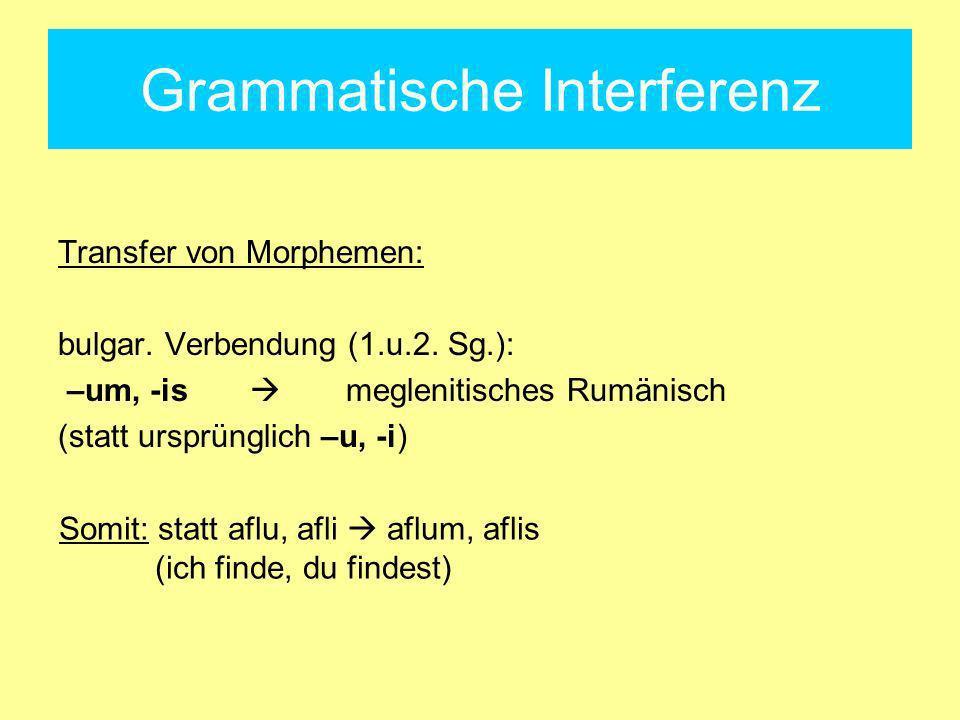 Grammatische Interferenz