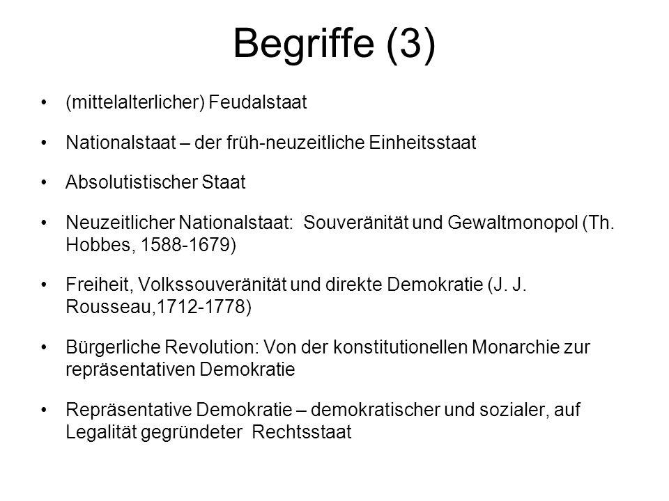 Begriffe (3) (mittelalterlicher) Feudalstaat