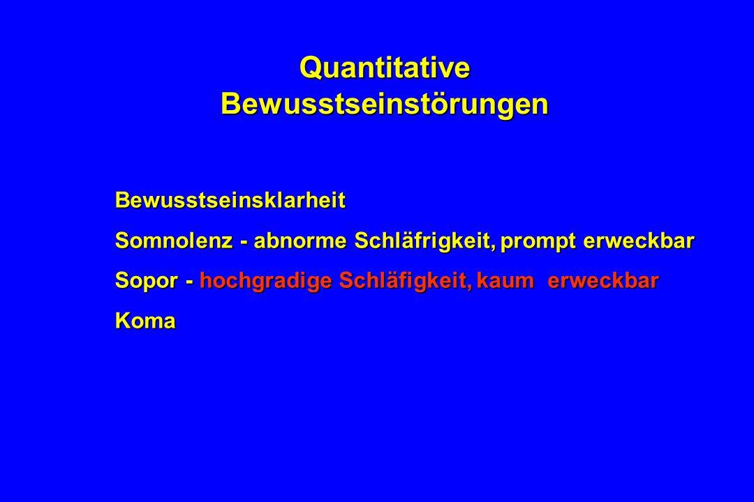 Quantitative Bewusstseinstörungen