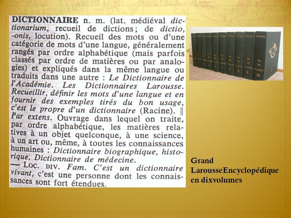 Grand LarousseEncyclopédique en dixvolumes