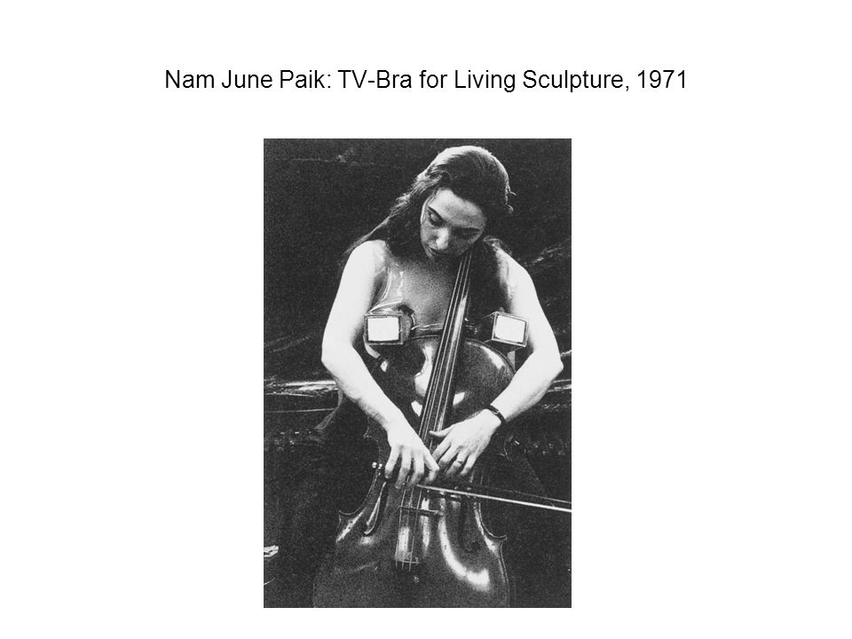Nam June Paik: TV-Bra for Living Sculpture, 1971