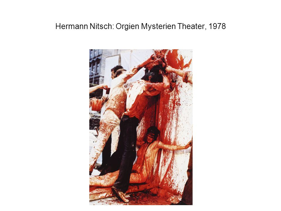 Hermann Nitsch: Orgien Mysterien Theater, 1978