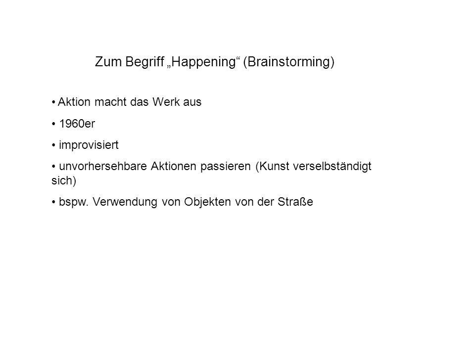 "Zum Begriff ""Happening (Brainstorming)"