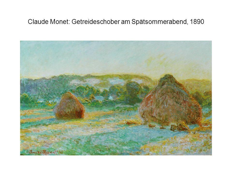 Claude Monet: Getreideschober am Spätsommerabend, 1890