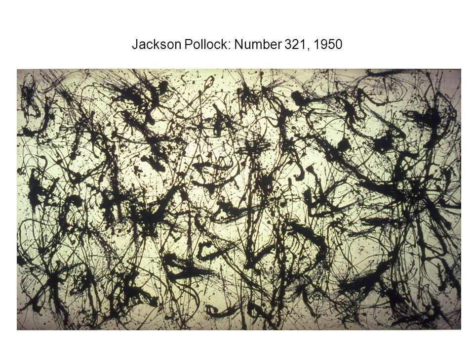 Jackson Pollock: Number 321, 1950