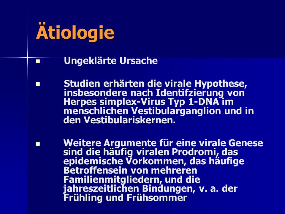 Ätiologie Ungeklärte Ursache