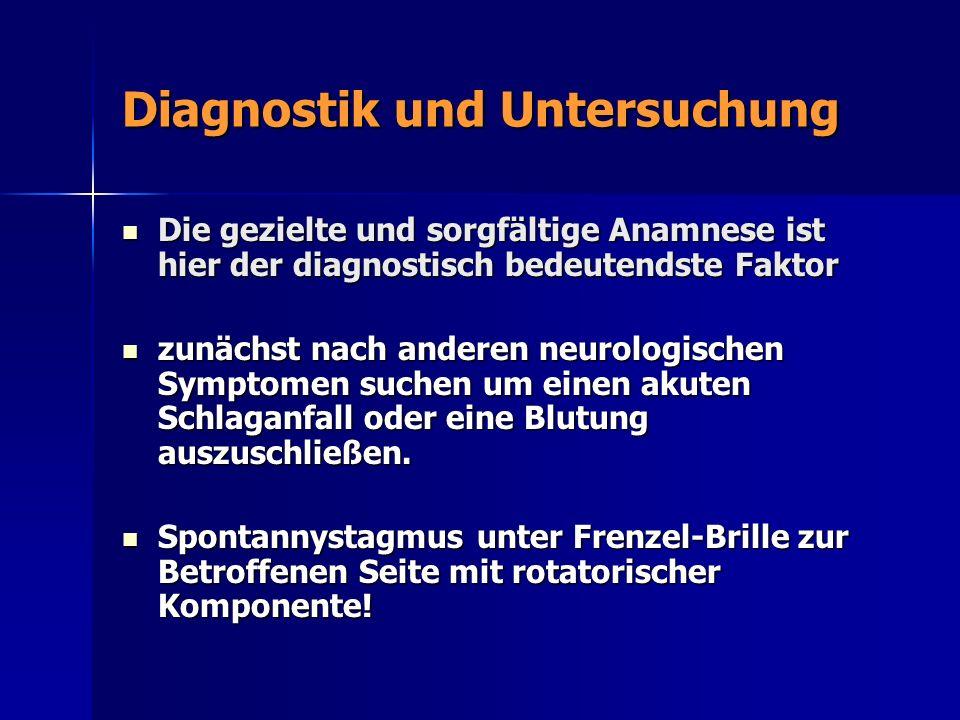Diagnostik und Untersuchung