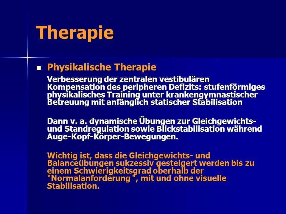 Therapie Physikalische Therapie