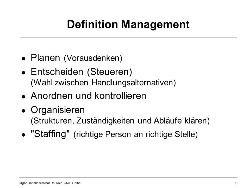 Definition Management