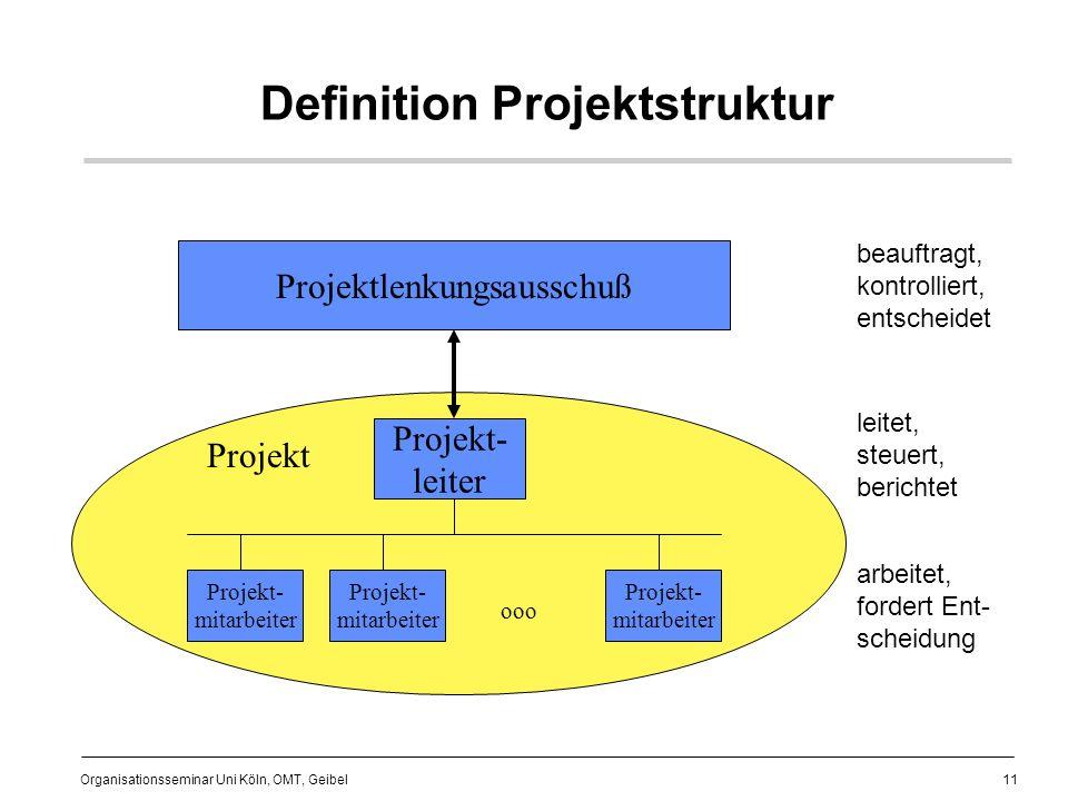 Definition Projektstruktur