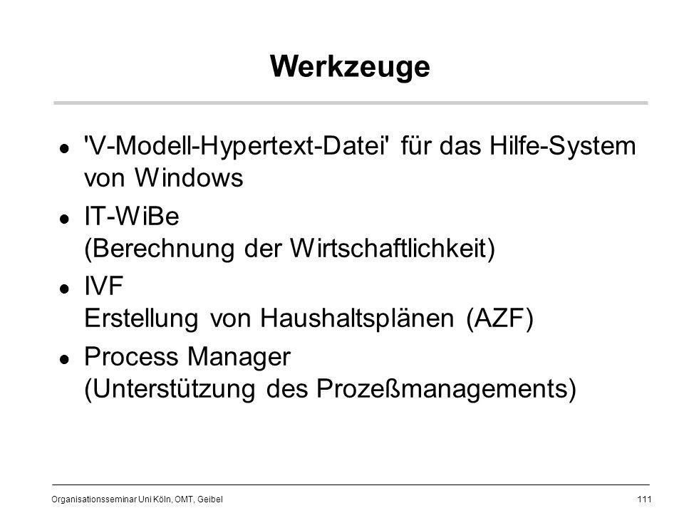 Werkzeuge V-Modell-Hypertext-Datei für das Hilfe-System von Windows