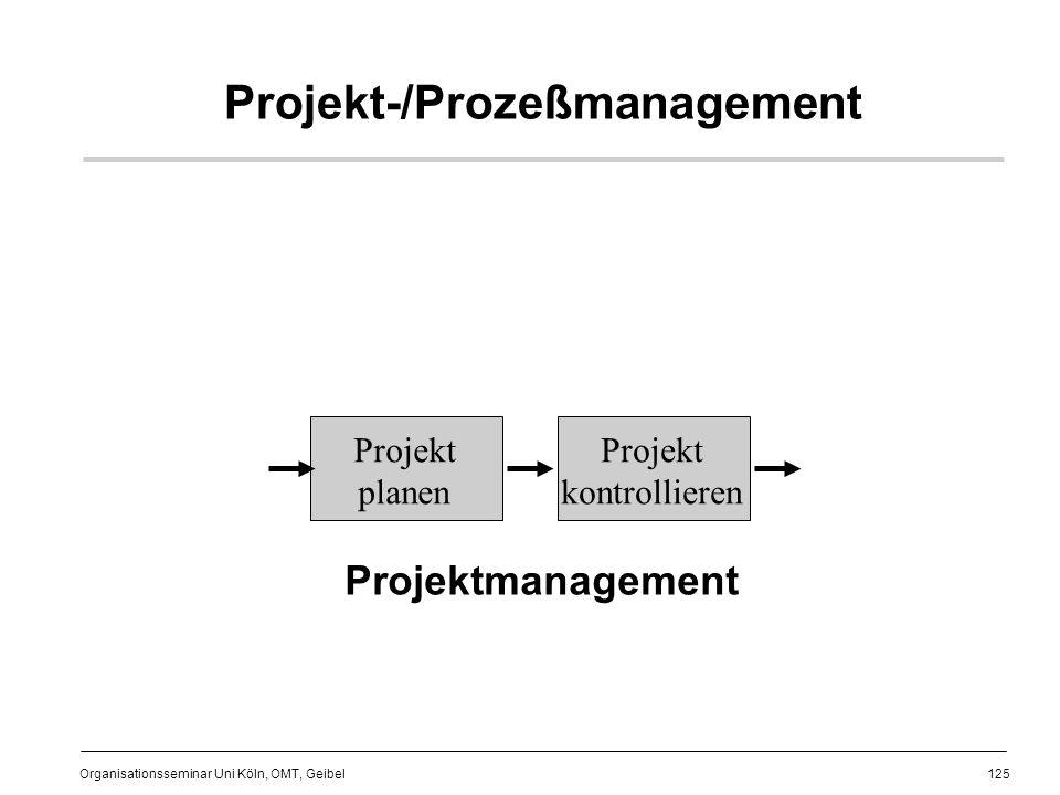Projekt-/Prozeßmanagement