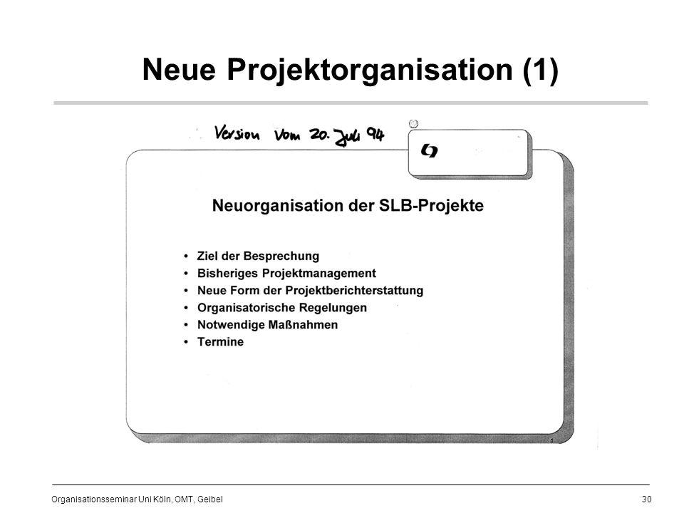 Neue Projektorganisation (1)