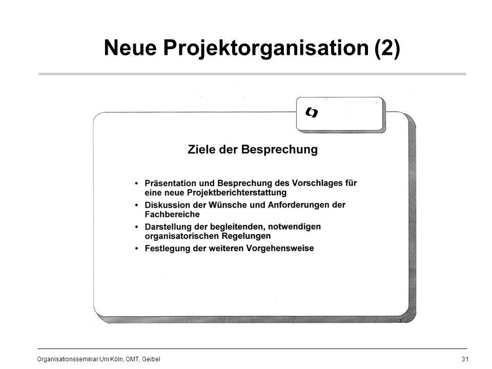 Neue Projektorganisation (2)