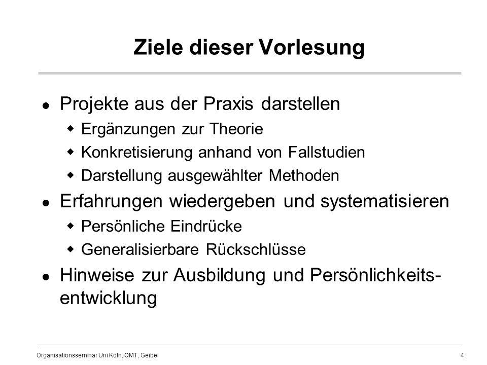 Ziele dieser Vorlesung