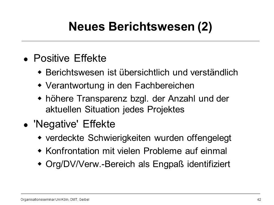 Neues Berichtswesen (2)