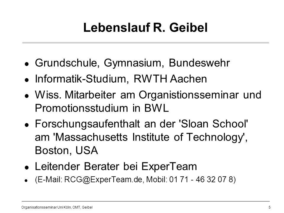 Lebenslauf R. Geibel Grundschule, Gymnasium, Bundeswehr