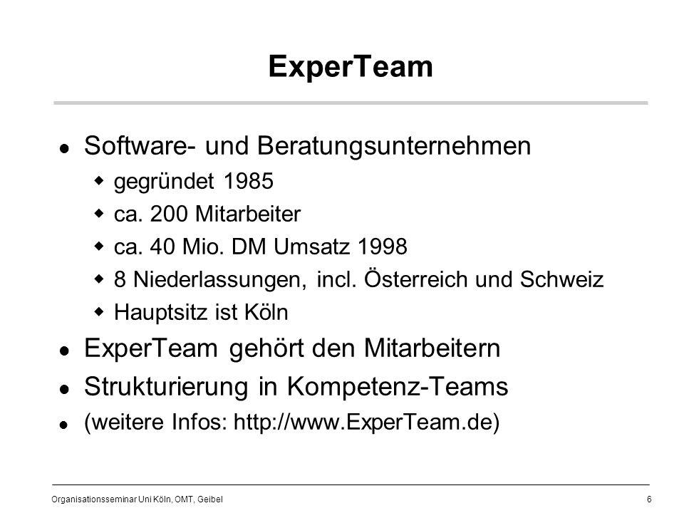 ExperTeam Software- und Beratungsunternehmen