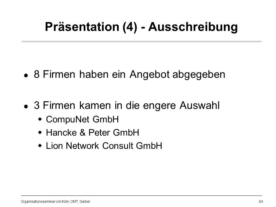 Präsentation (4) - Ausschreibung