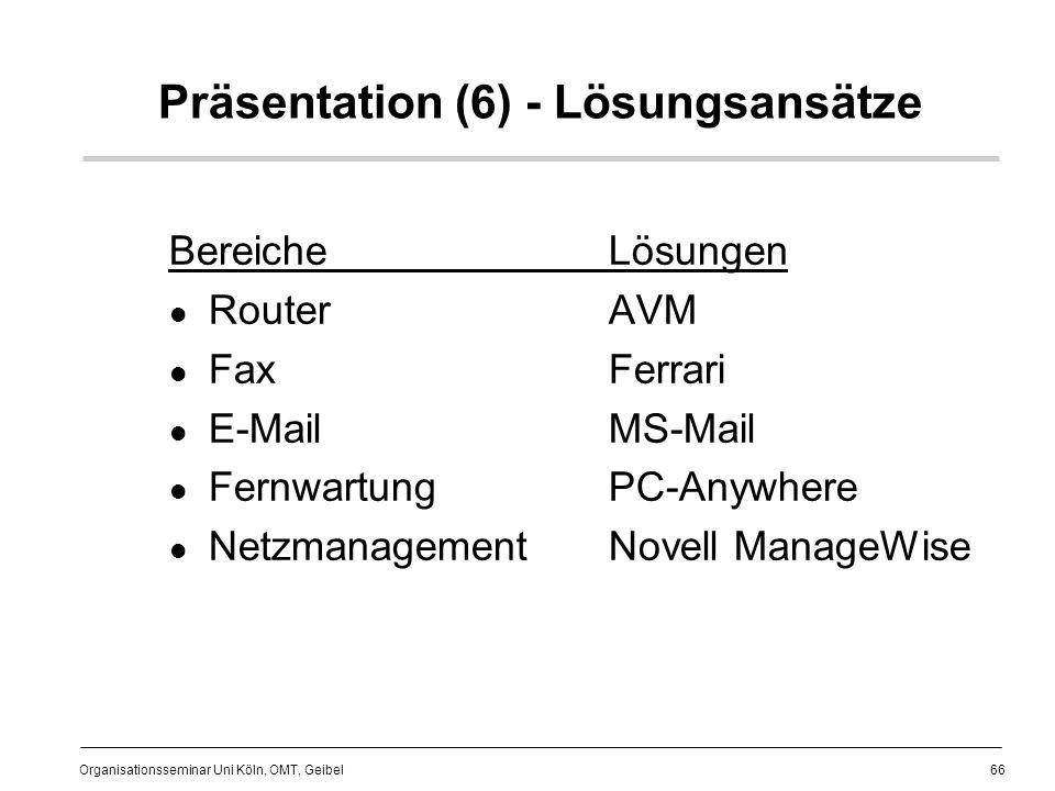 Präsentation (6) - Lösungsansätze