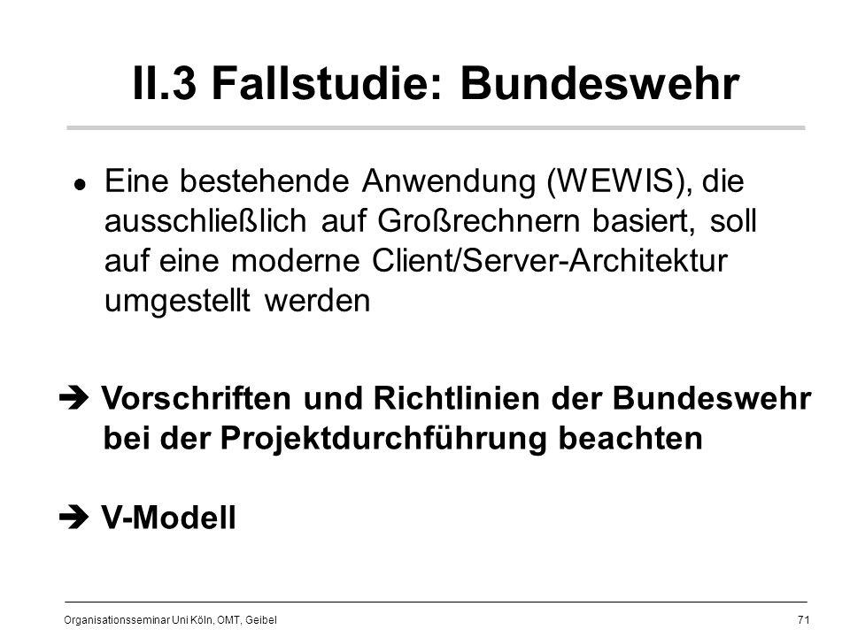 II.3 Fallstudie: Bundeswehr