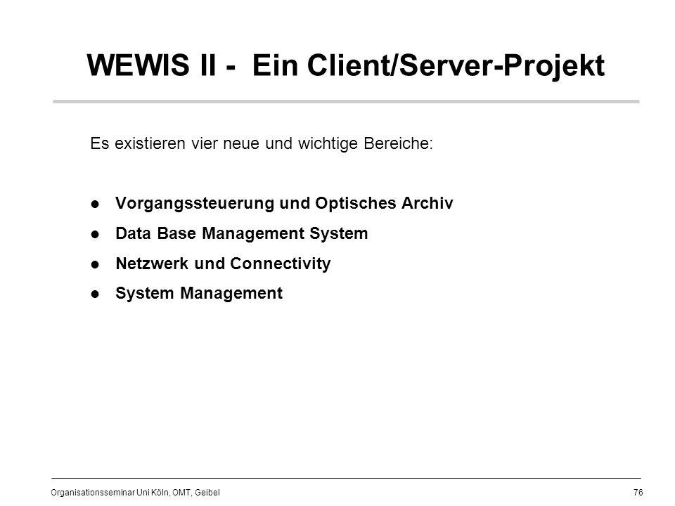 WEWIS II - Ein Client/Server-Projekt