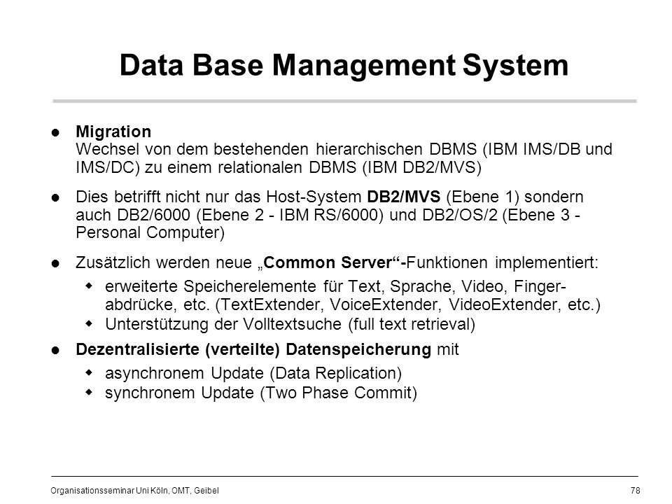 Data Base Management System