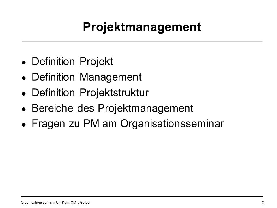 Projektmanagement Definition Projekt Definition Management